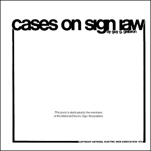 Cases on Sign Law (1975)