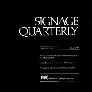Signage Quarterly – Vol 2 – No 1 – March 1979