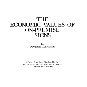 The Economic Value of On-Premise Signs (1983)